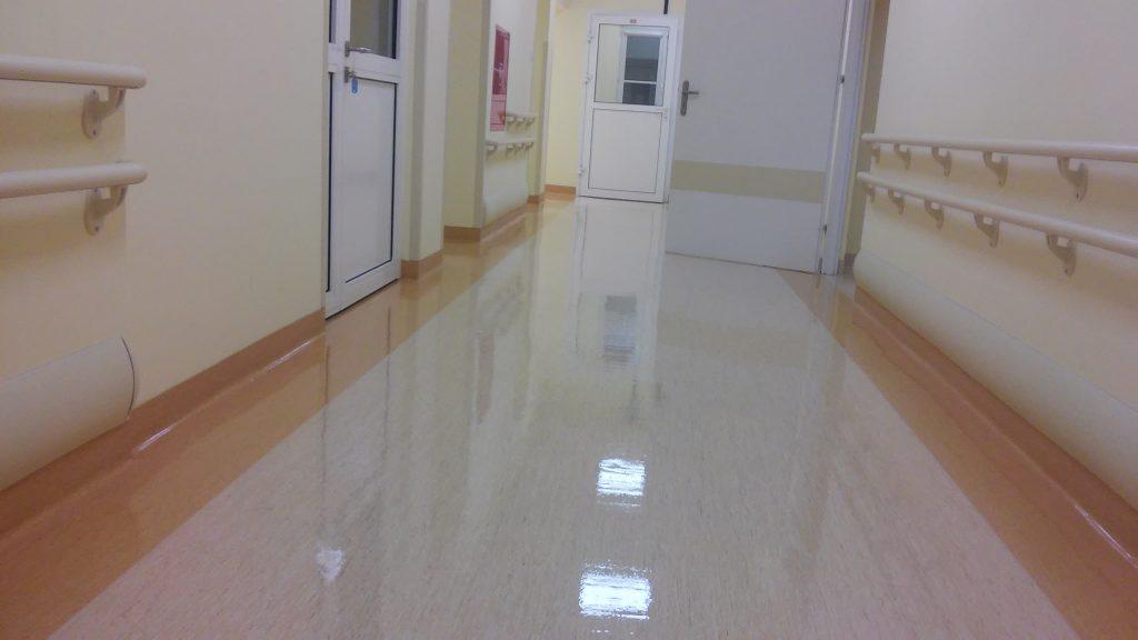 Podłogi zabezpieczone polimerami
