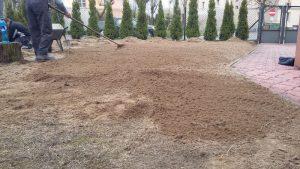 Urządzanie ogrodów, koszenie traw, grabienie